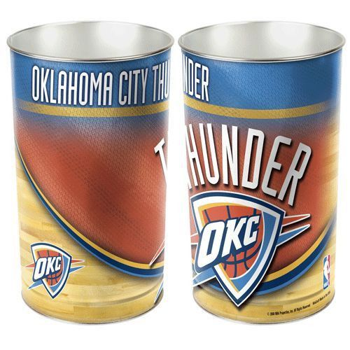 Slam Dunk Your Trash With Style With This Oklahoma City Thunder Basketball  Waste Basket For Use In The Game Room, Office, Bedroom, Or Bathroom Of Any  Fan Of ...