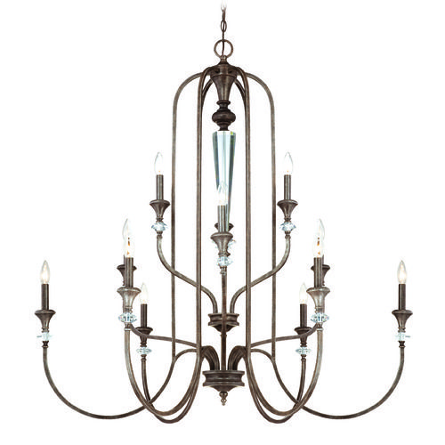 Craftmade Boulevard Mocha Bronze, Silver Accents Chandelier | 26712-MB | Destination Lighting