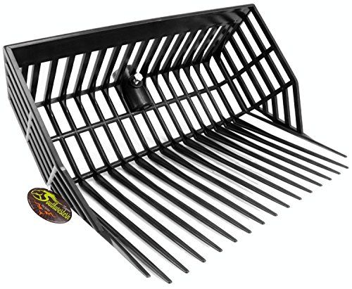 "Universal Manure Fork Head ""Catch-All Deep Basket"" - Southwestern Equine (Black)  DEEP BASKET - For faster clean up  HEAVY DUTY - Tines and fork head.  UV RESISTANT - Made to not fade or crack from exposure to the sun  EASY REPLACEMENT - Universal mount for easy replacement  FLAT BOTTOM - Triangle tines - ensure low contact with the ground."
