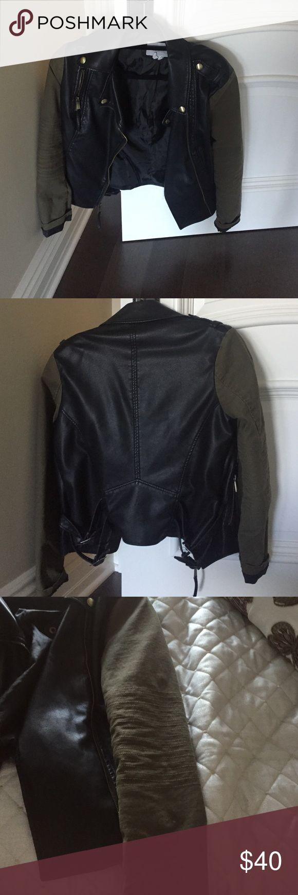 BCBGeneration Jacket Khaki/black jacket. Used. BCBGeneration Jackets & Coats