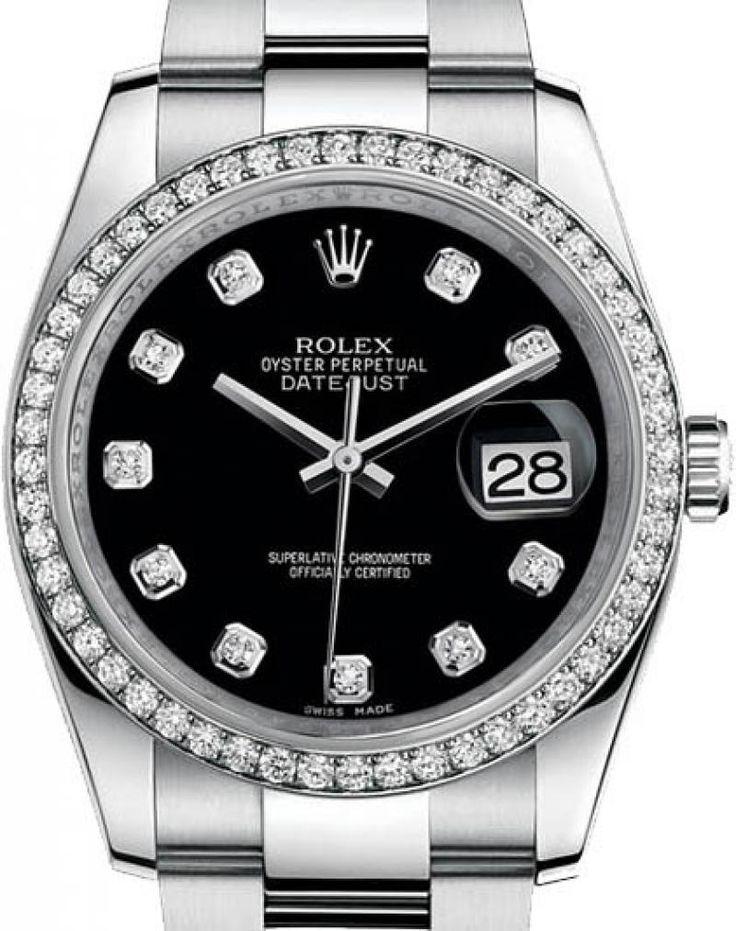 Rolex 116244 bkdo Datejust 36mm Steel and White Gold. #rolex
