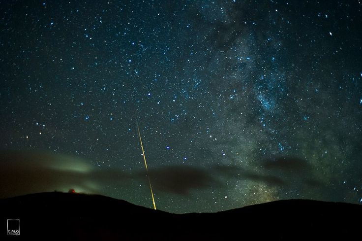 50mm time lapse of the Milky Shot behind Cannon Mountain observatory 12Jul12 with many meteors lighting up the sky throughout the night. Chris Georgia Photography - http://www.cmgfoto.com/