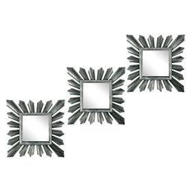 Набор зеркал Кристаллы серебристые, 3 шт. купить в Минске