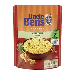 Uncle Ben's Express-Reis Curry 250g