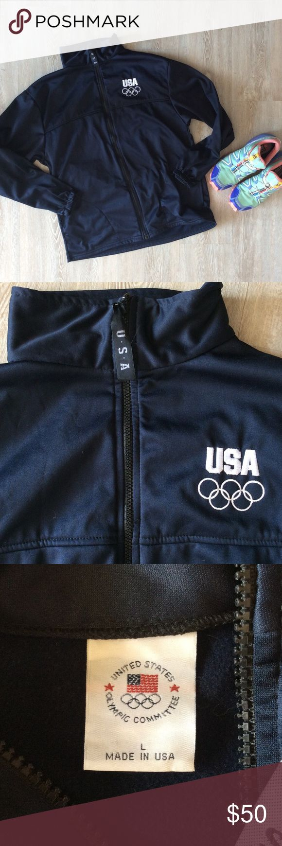 USA Olympic Committee Jacket This jacket was used by the Olympic committee! It's vintage too! It's 100% polyester! Smoke and pet free home! Offers accepted! Jackets & Coats