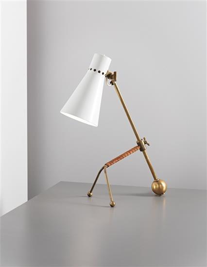 Favorite Picks: Phillips: Design: London  Leather-wrapped brass table lamp // Tapio Wirkkala