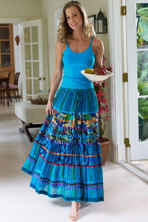 bright peasant skirt