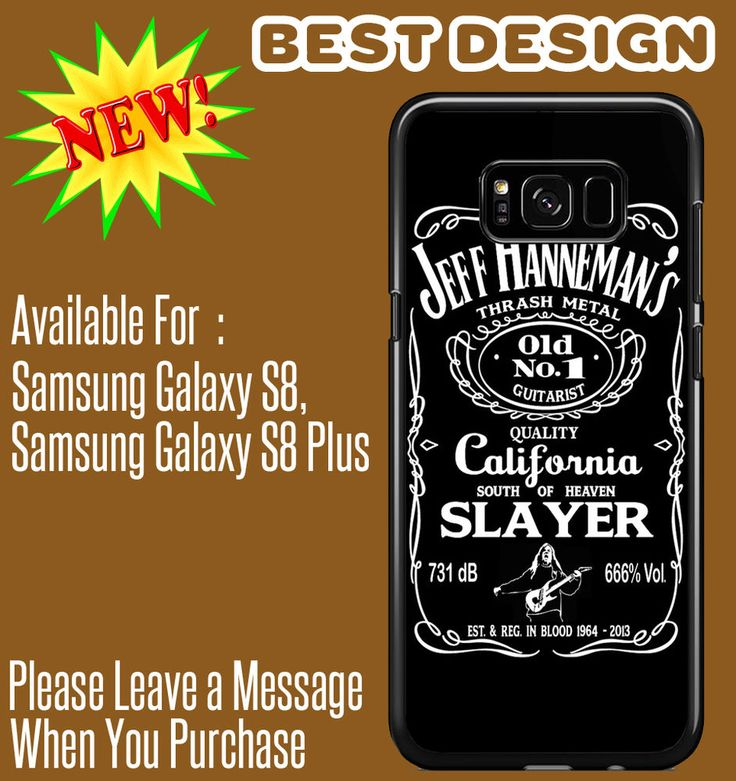 Jeff Hanneman Slayer For Samsung Galaxy S8/Galaxy S8 Plus Cases #UnbrandedGeneric