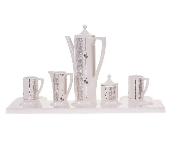 Acacia Executive Coffee Set in Cream.  #coffee #designer #ceramic