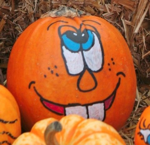 41 best images about painted pumpkin faces on pinterest for Funny pumpkin drawings