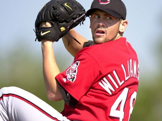 Day 56: Scott Williamson, 1999 Reds' All-Star. Photo: Scott Williamson at Reds' spring training in February of 2001. Enquirer file photo