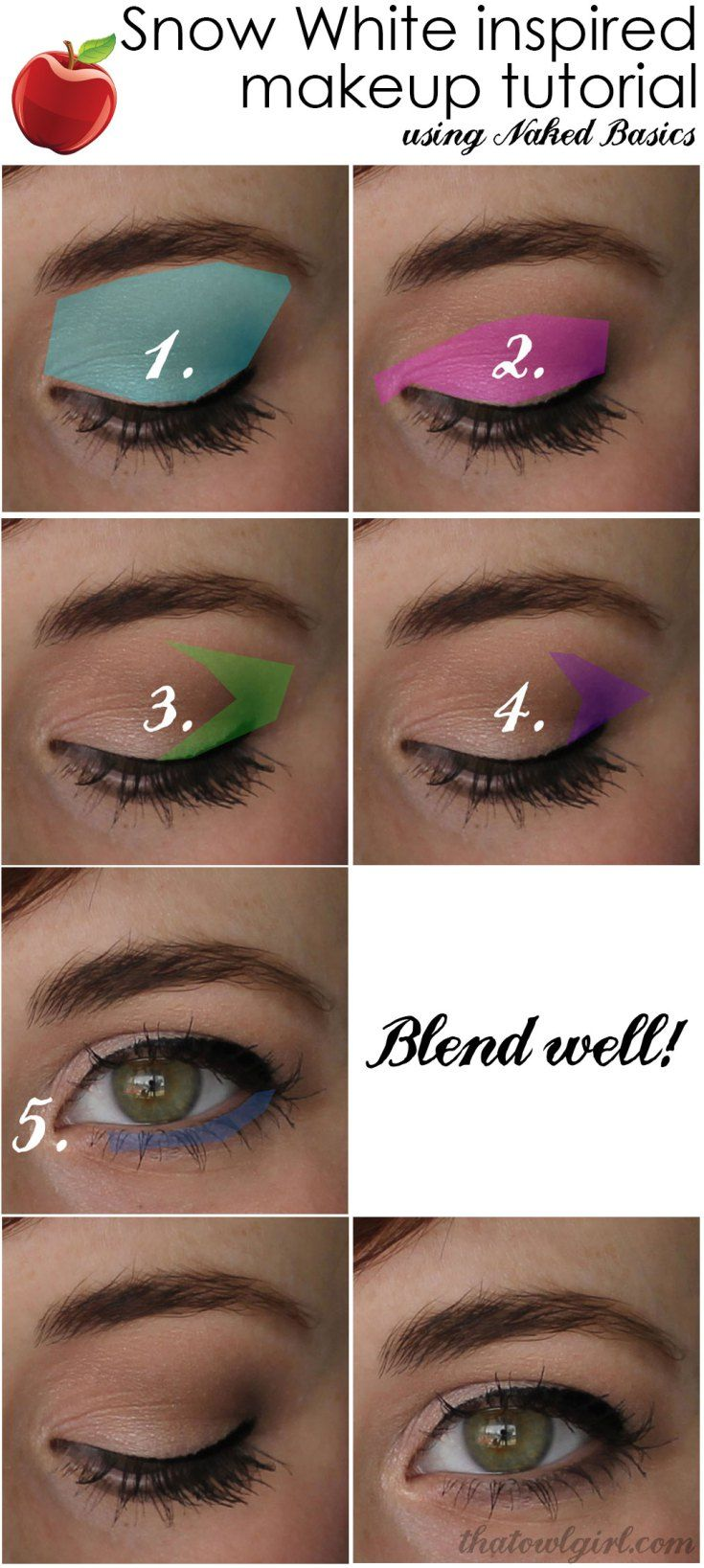 Naked Basics makeup tutorial. Mary Margaret from Once Upon a Time