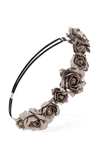 Metallic Faux Rose Headband | FOREVER21 - 1000057483 #Forever Holiday