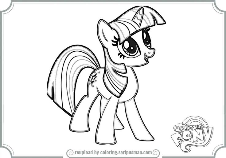 17 best images about my little pony twilight sparkle on for Twilight my little pony coloring page