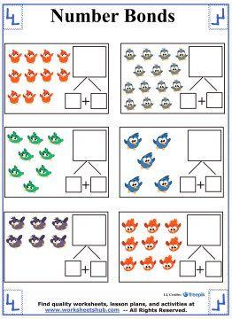 birds number bonds worksheet