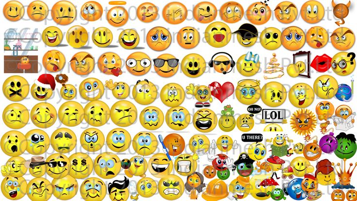 Use thousands of available emoticons to express your mood