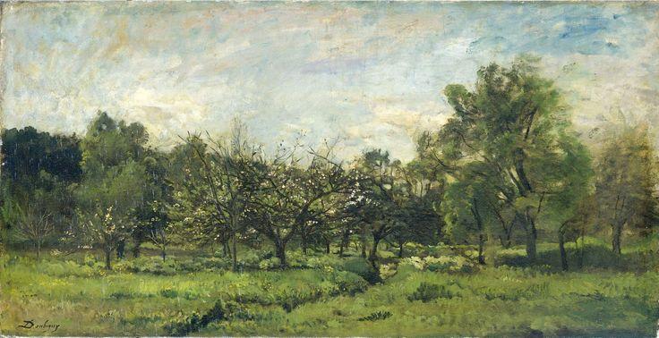 Orchard, Charles-François Daubigny, 1865–1869 | Rijksmuseum, Public Domain