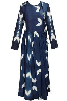 Navy and white bird printed crossover dress available only at Pernia's Pop-Up Shop.
