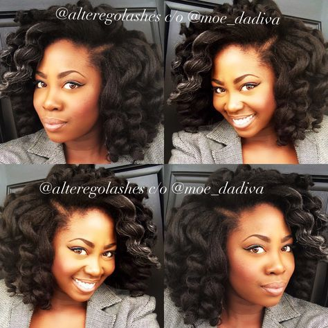 Crochet Braids with Cuban twist hair