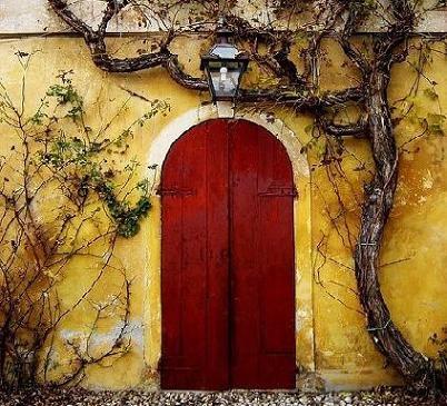 Reddish Moorish Like Door....splendid!