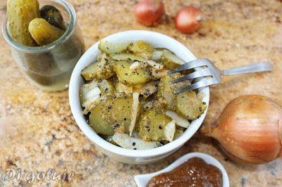 Di gotuje: Sałatka z kiszonych ogórków z musztardą (do obiadu...