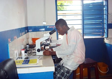 Solar power has transformed working conditions for medics at the Masaki village health centre.