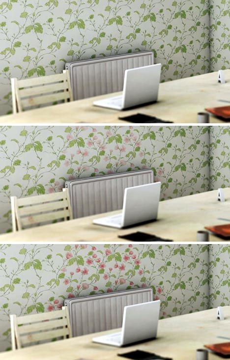 Heat-Reactive & Digital Wallpaper Let You Redecorate On The Fly via Brit + Co