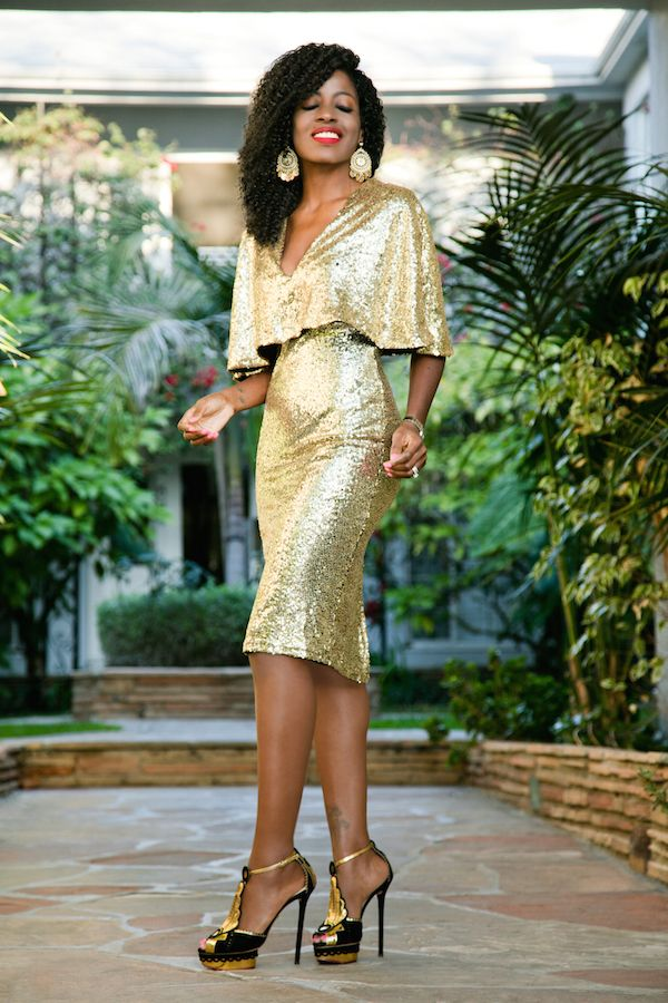 Style Pantry | Kimono Sleeve Sequin Midi Dress