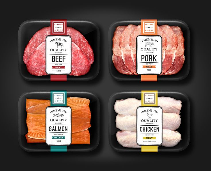 Quality ingredients make such a difference when cooking from scratch.  Feather and Bone is a high end food retail shop, selling delicious and  fresh meats, deli and dairy products, and produce. Flotation Device  designed the packaging for Feather and Bone, creating a look for the brand  that advocates for a wholesome approach to life and food.