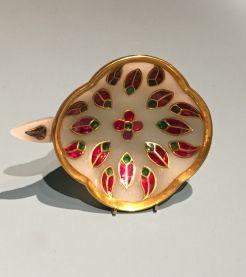 Coupe à Vin, Jade, Rubis, Émeraudes. Inde XVIIIème siècle