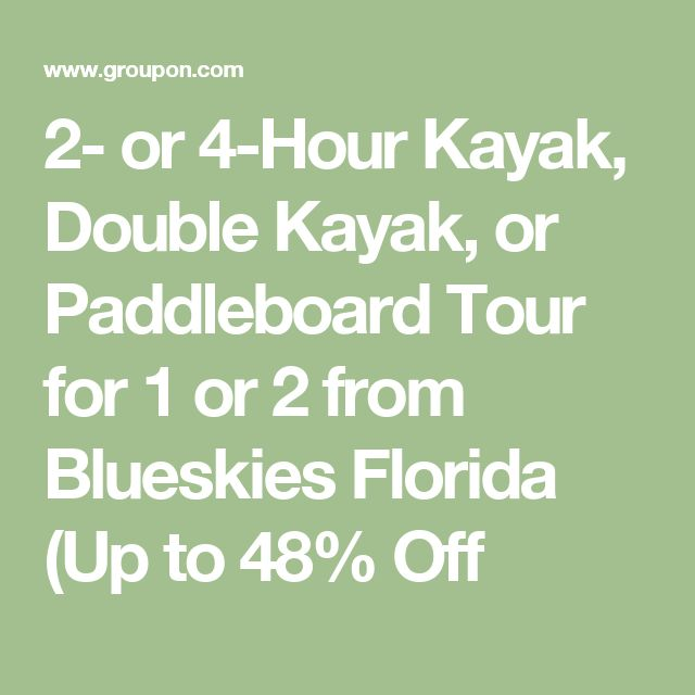 2- or 4-Hour Kayak, Double Kayak, or Paddleboard Tour for 1 or 2 from Blueskies Florida (Up to 48% Off