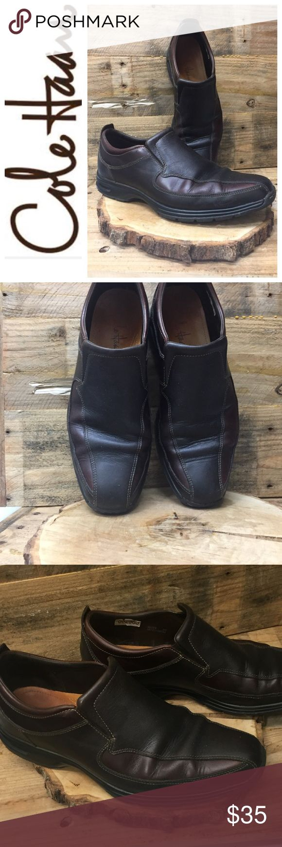 Men's Cole Haan Brown on Brown Loafers Shoes 9 Great pair of men's brown on brown Cole Haan slip on Loafers. Nike air cushioned soles , great to work in.  Preowned and clean. Check out my closet to save on bundles. Reasonable offers accepted. Cole Haan Shoes Loafers & Slip-Ons