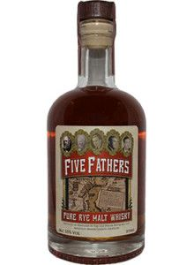 Five Fathers Pure Malt Rye Whiskey.  Crafted from pure rye grains, this rye is the first barrel-aged #whiskey distilled in Mason County, Kentucky in over 70 years. | @Caskers