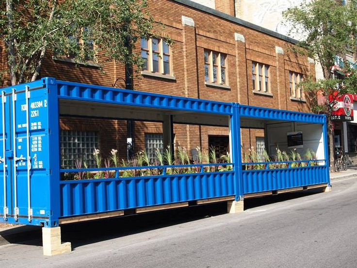 Montreal builds on the parklet craze with innovative new urban spaces made from recycled shipping containers.