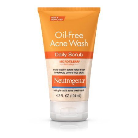 Neutrogena Oil-Free Acne Face Wash Daily Scrub With Salicylic Acid, 4.2 Fl. Oz., Multicolor