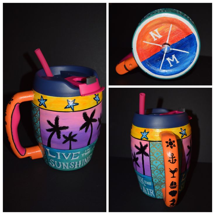 52oz hand painted bubba keg that I made for spring break!