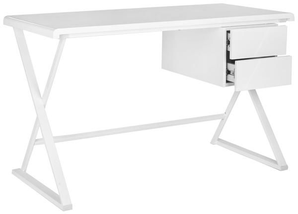 Office Desks - Safavieh Watkins Desk White | FOX2205A | 683726491989| $257.10. Buy it today at www.contemporaryfurniturewarehouse.com