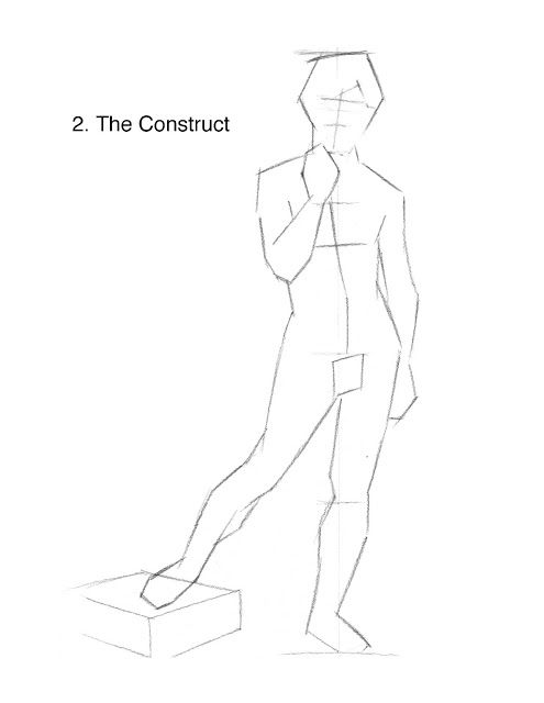 Classical Drawing: Stages of a Fully-Rendered Figure Drawing   Life