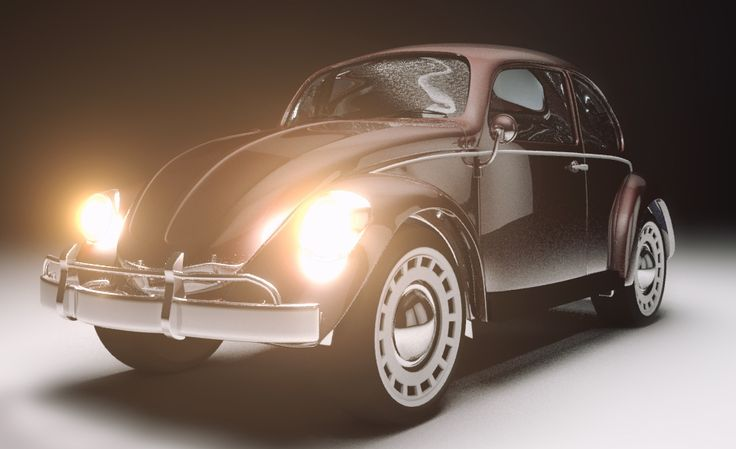 volkswagen beetle - modeling 3D - Car - lighting - Mental Ray - 3ds Max