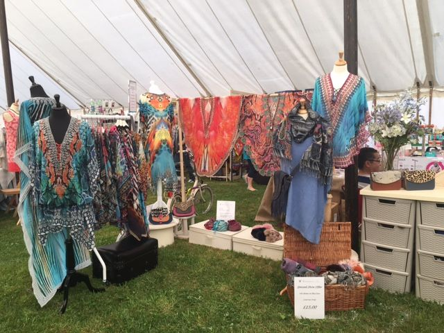South Suffolk Show - Ingham, nr Bury St Edmunds (one day show). We are in the Craft Marquee and have special show pricing on kaftans and scarves today.