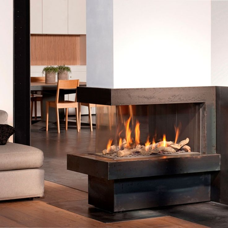 BELLFIRES Fireplaces View Bell Room Divider Medium, Wood and Gas : Roof tiles : Fireplaces : Stones
