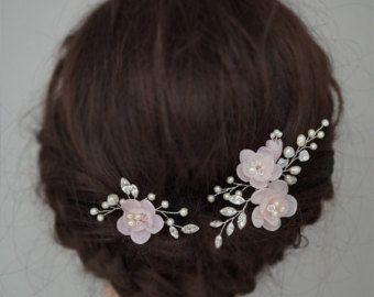 Rosa, accesorios Wedding del pelo, flores pelo novia, horquillas de novia, peinetas novia flor, flores y vides postizos
