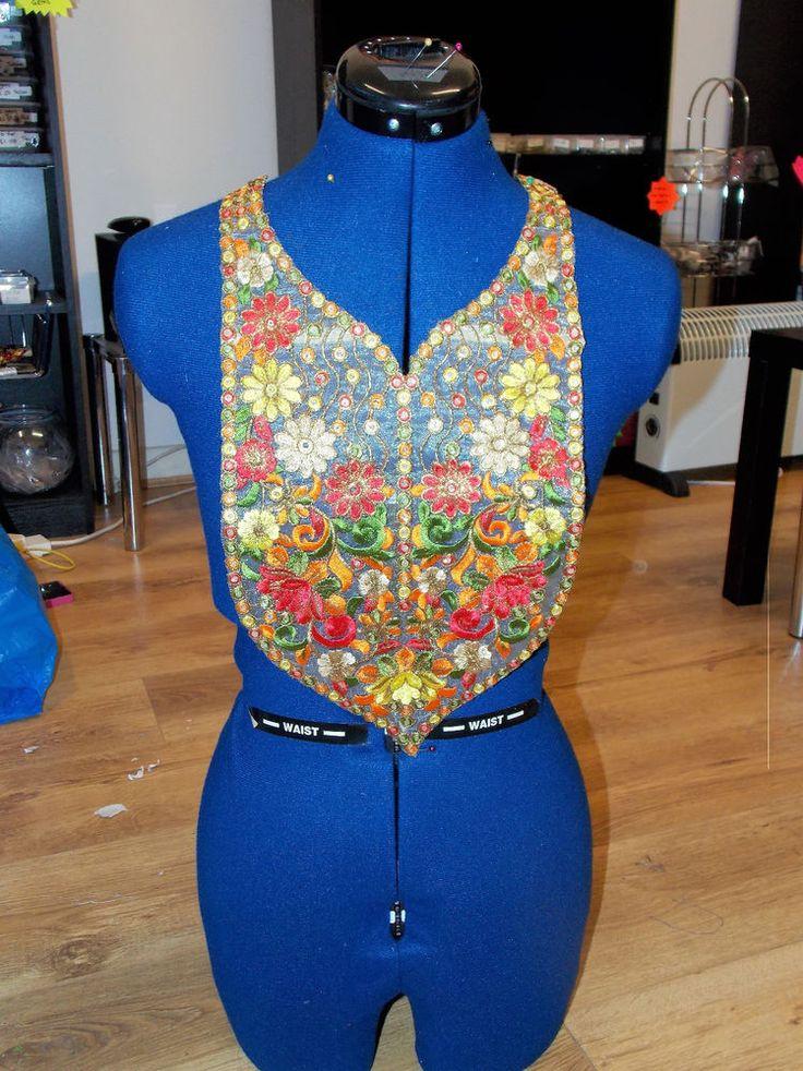 multicolour gold boho ethnic embroidery lace applique patch motif asian FOLK     eBay