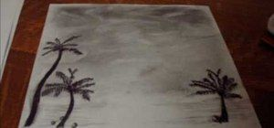 How to Draw a palm tree landscape « Drawing & Illustration