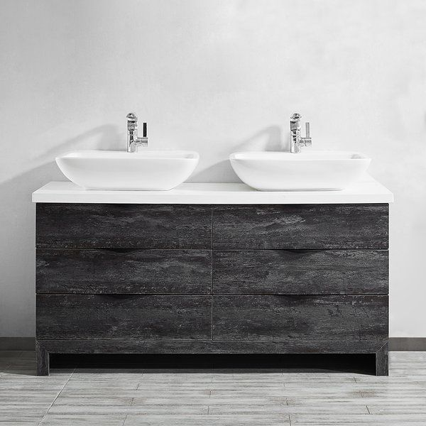 Kelsey 59 Double Bathroom Vanity Set Double Vanity Bathroom
