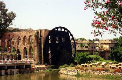 NINIVEMAIL: SYRIE > Hama fotografie města Norie dřevěná vodní ...