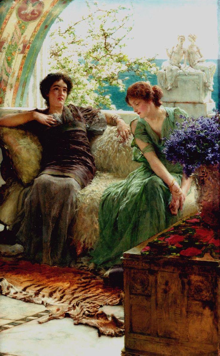 Sir Lawrence Alma-Tadema (Sir Lawrence Alma Tadema) (1836-1912)  Unwelcome Confidences