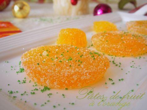 pâtes de fruits à l'orange (citron, clémentine...)