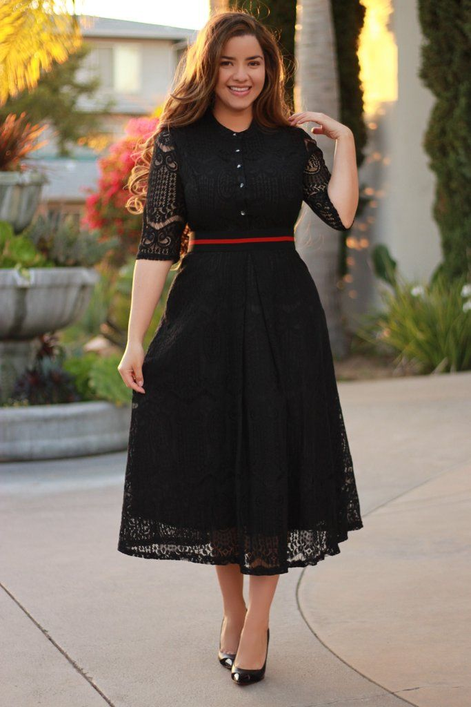 Clementine Black Lace Dress in 2019  4750701a3