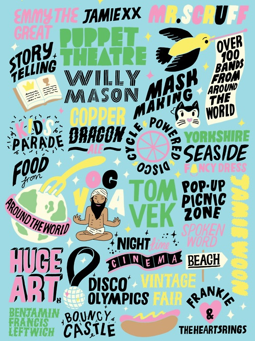 festival poster, beacons festival, by kate prior